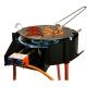Barbacoa paellero barata garcima multifuncion para carbon, paellero de gas, plancha asadora, leña, carbon