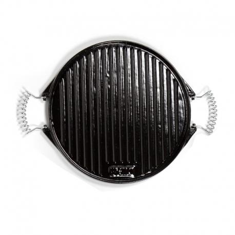 Plancha de hierro fundido esmaltado para barbacoas y cocina de 32 cm - Barbacoas hierro fundido ...