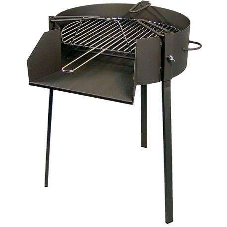 BBQ Forjada Soporte Paella 3 en 1 70cm.