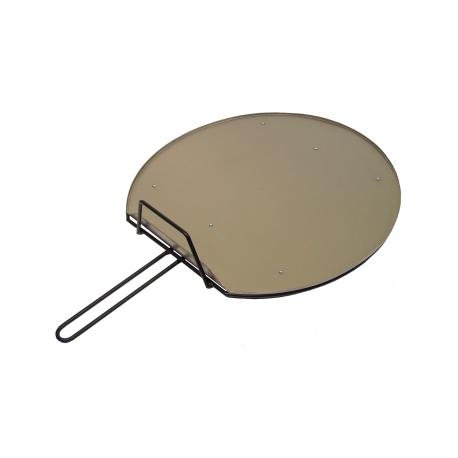 Plancha redonda inoxidable para barbacoas de 40 cm diametro.