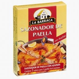 Sazonador Paella con azafrán 3 sobres