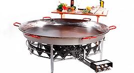 Paelleras y quemadores grandes eventos gastronomicos Paellas grandes