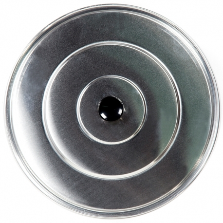 Tapa de aluminio lisa para paella 36cm
