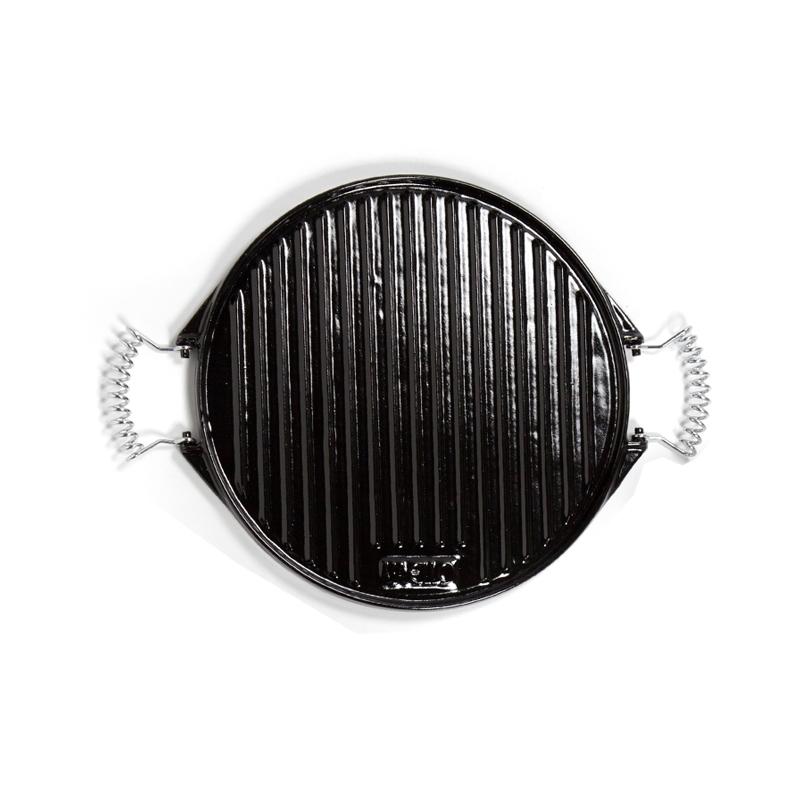 Plancha de hierro fundido esmaltado para barbacoas y cocina de 25 cm - Barbacoas hierro fundido ...