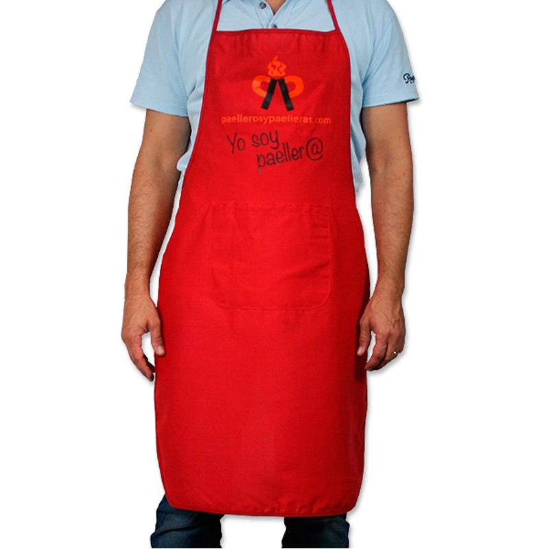 Delantal de cocina color rojo divertido y original paellero - Modelos de delantales de cocina ...