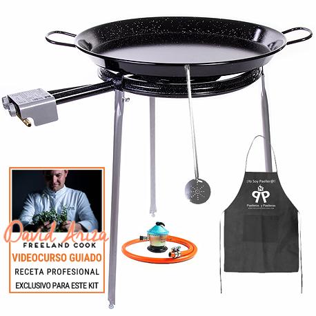 Kit Paella esmaltada 20 raciones + Gas