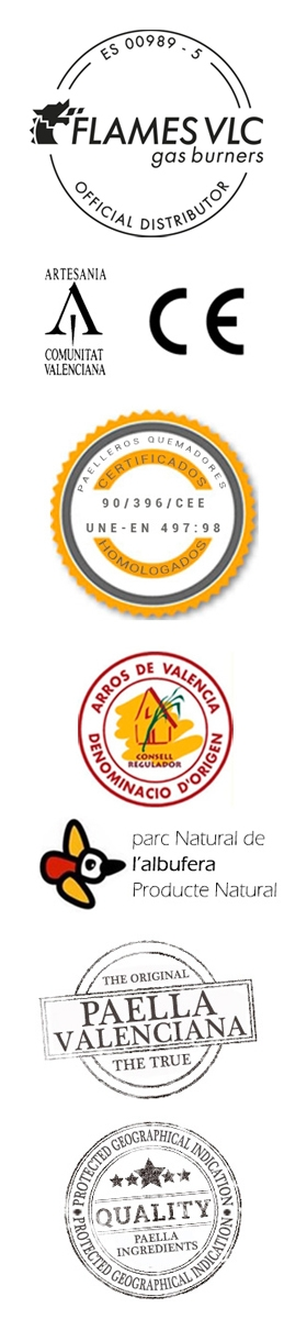 Autèntics ingredients per a l'Original Paella Valenciana
